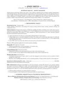Resume Sles For Business Analyst by 46 Best Business Analyst Resume Sles For Seekers Vntask