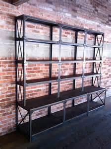 Vintage Industrial Bookshelves Vintage Industrial Ironworker Shelf By Vintageindustrial