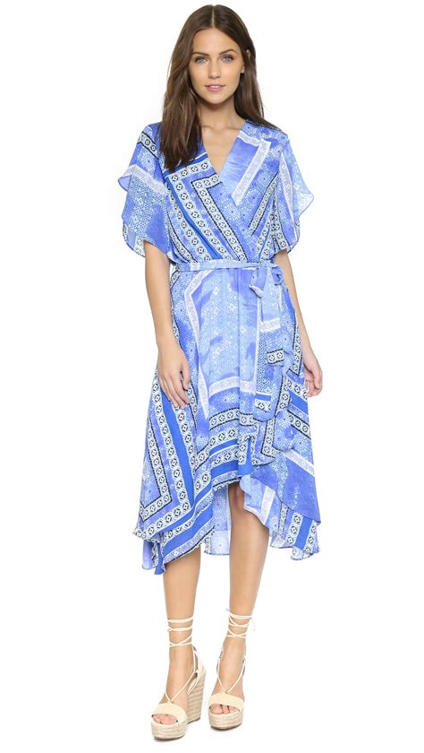Dominica Dress dominica dress in blue olympos lyst