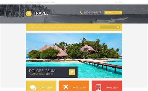 templates bootstrap agency travel agency responsive opencart template 54745