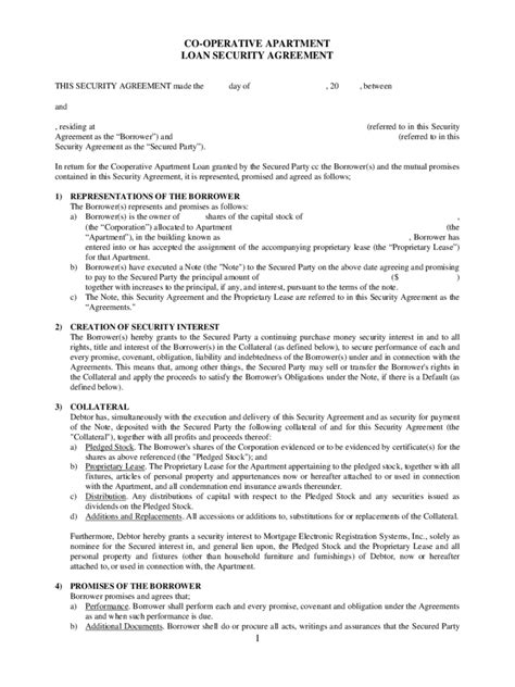 Loan Agreement Form 7 Free Templates In Pdf Word Excel Download Loan And Security Agreement Template