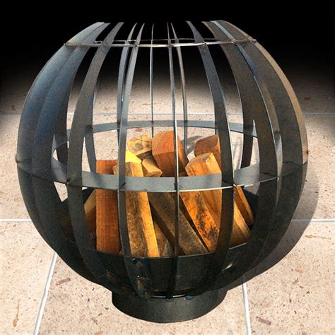 Globe Pit globe brazier with pit brazier pits and portable outdoor fireplaces