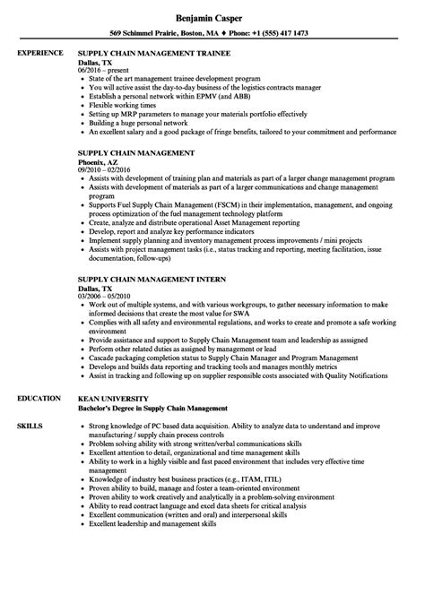 Supply Chain Management Resume by Supply Chain Management Resume Sles Velvet