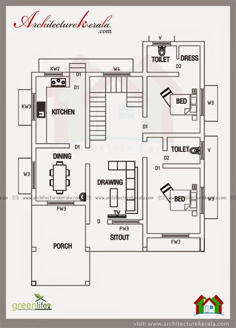 kerala home design 2000 sq ft below 2000 square feet house plan and elevation