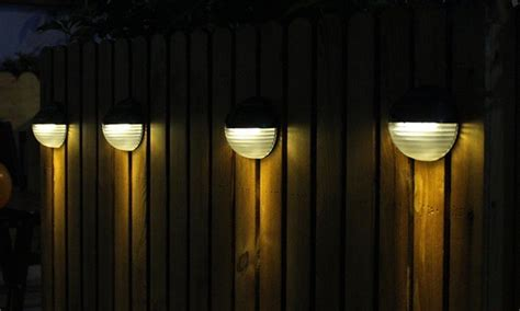 in lights groupon solar fence light groupon