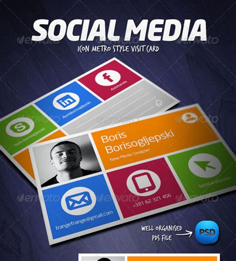 social media business card template 56 visually stunning psd business card templates web