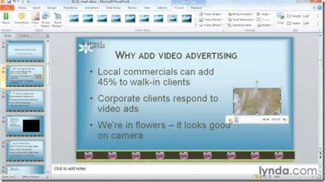 themes for multimedia presentation powerpoint 2010 audio and video in depth training course