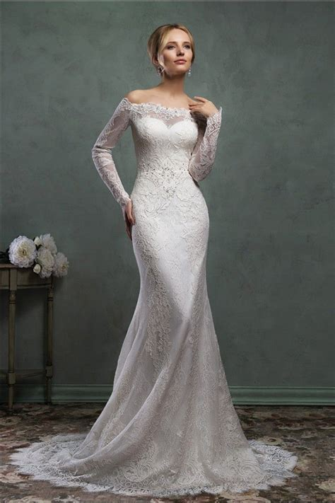 classic wedding gowns with sleeves home classic mermaid