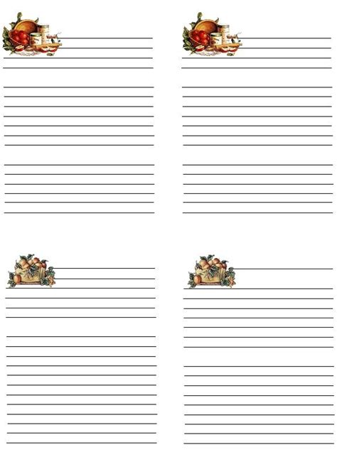 deorative recipe card template 165 best recipe cards images on printable