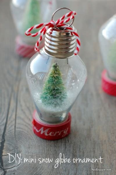 light weight christmas trees diy mini snow globe ornament