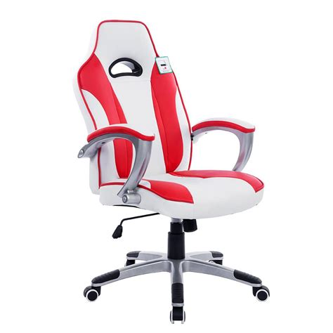 chair for 36 high desk racing gaming style pu leather swivel office chair daal