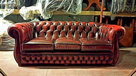 divani chesterfield divani chesterfield usati in pelle vintage originali inglesi