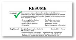 Summary for a resume examples for students summary resume examples