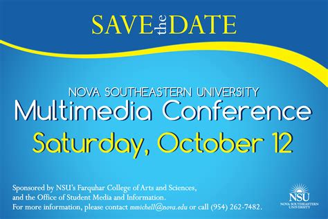 Nsu Multimedia Conference Oct 12 Nsu Newsroom Save The Date Flyer Template