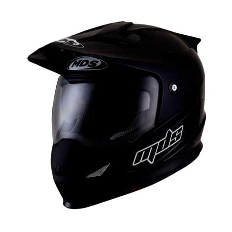Helm Mds Superpro jual mds pro solid black matt helm