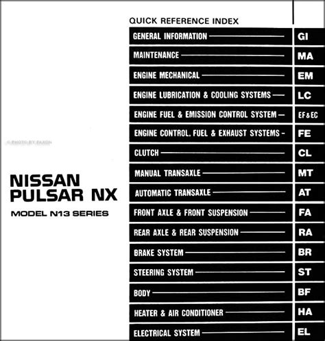 service and repair manuals 1993 nissan nx electronic toll collection service manual 1993 nissan nx fuse manual nissan nx 1993 1 6 in กร งเทพและปร มณฑล manual