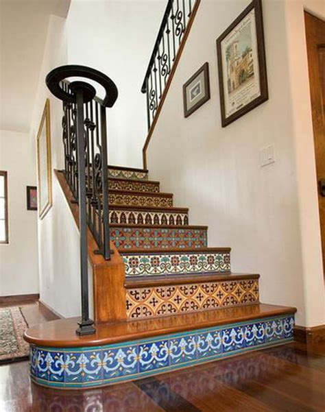 Tiles For Stairs Design 20 Diy Wallpapered Stair Risers Ideas To Give Stairs Some Flair Architecture Design