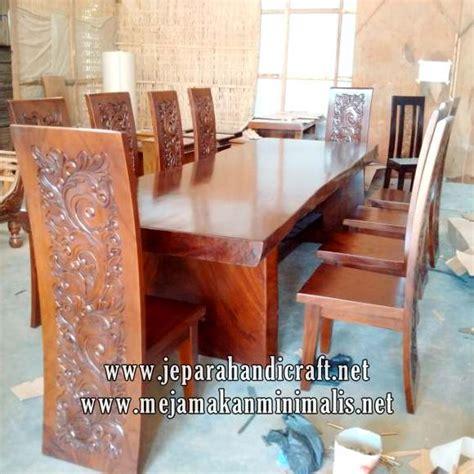 Meja Makan Besar jual set meja makan kayu utuh kursi majapahit harga murah
