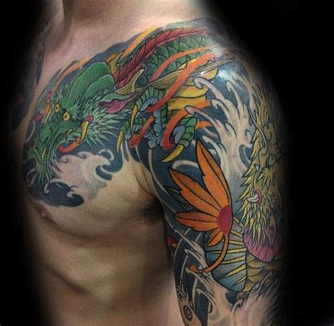 koi dragon sleeve tattoo designs 50 koi designs for japanese fish ink ideas