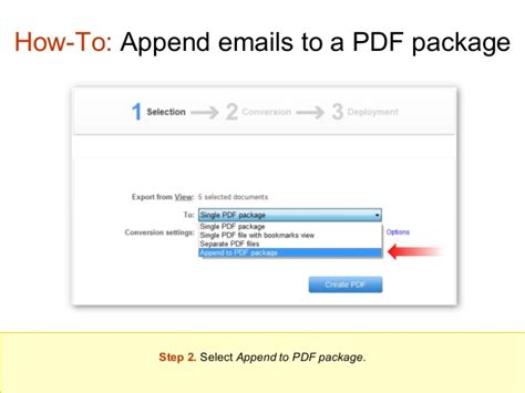 swing pdf converter how to append new emails to a pdf package