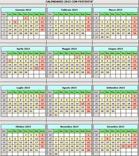 Calendario 2018 Italiano Con Festività Calendario Calendario 2015 Con Festivit 224