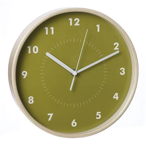 simple wall clock simple wood wall clock west elm