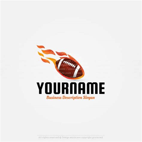 buy logo template buy a logo american football logo template
