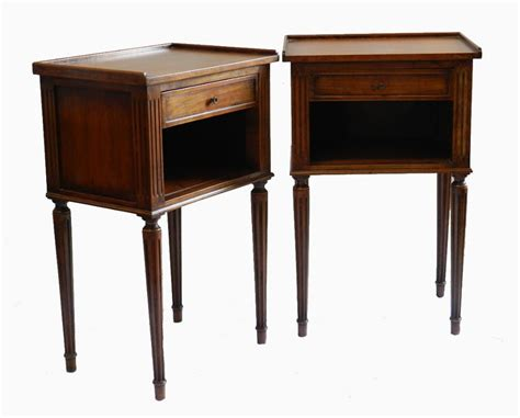 vintage bedside table pair french side cabinets nightstands bedside tables