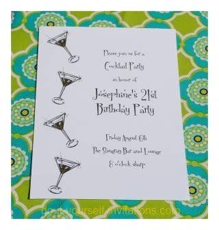 Print And Create 21st Birthday Invitations 21st Birthday Invitation Card Template