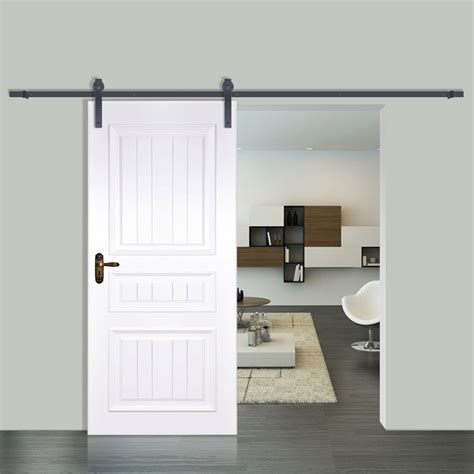 Closet Barn Door Hardware 6 6ft Sliding Barn Door Hardware Closet Set Roller Heavy Duty Wise Choice Ebay