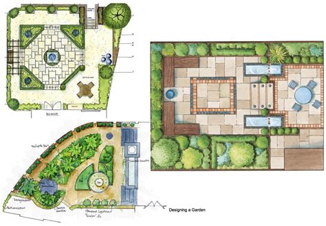 house with garden drawing modern house
