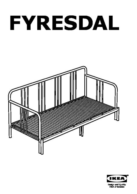 fyresdal ikea fyresdal day bed with 2 mattresses black malfors medium