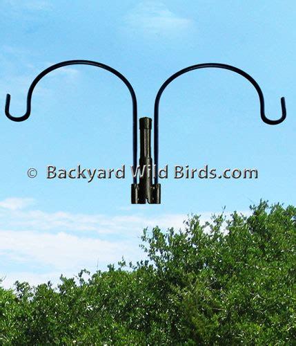 bird feeder s pole duo hanger arm at backyard wild birds