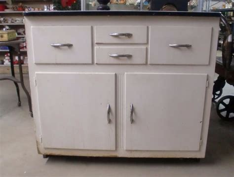 Kitchen Cabinets Vintage | vintage porcelain top kitchen cabinet painted ebay