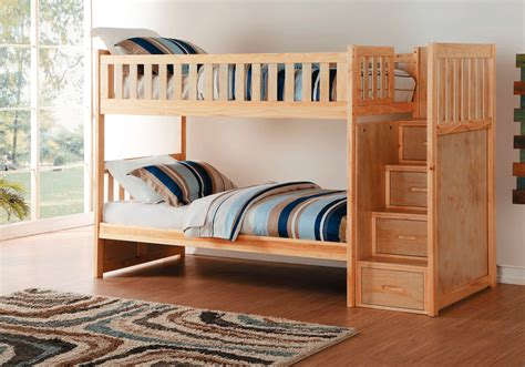 overstock bunk beds bartley twin twin bunk bed with storage steps lexington