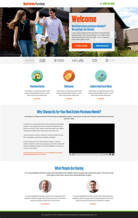 Landing Page Design The Best Real Estate Landing Pages by 100 Best Click Through Rate Optimization Landing Page