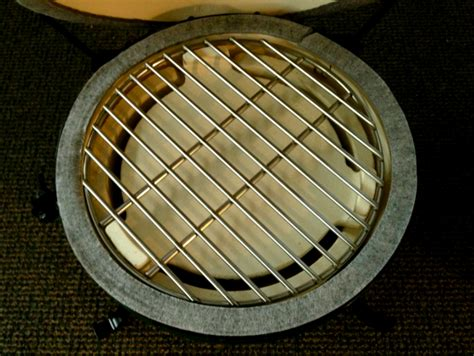 Big Green Egg Grate Rack by Big Green Egg Mini Plate Setter With Cooking Grate