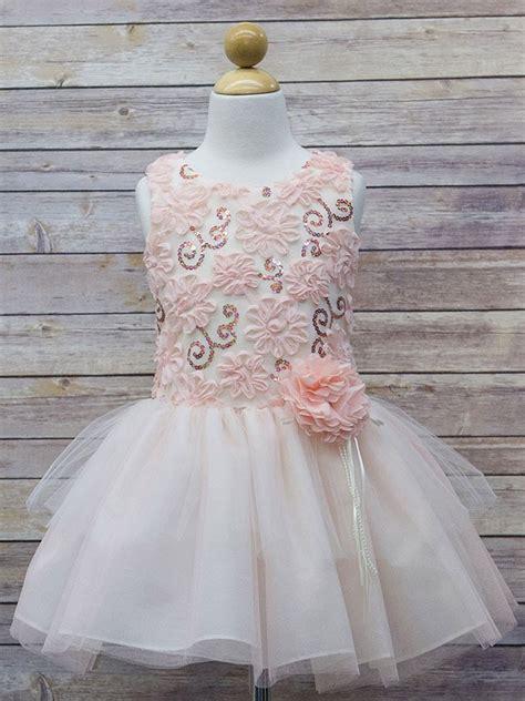 Ep Rahayu Tutu Dress blush sequin 3d floral tutu dress