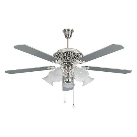 silver 3 blade ceiling fan images of silver ceiling fan with light all can download