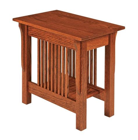 mission accent table amish leah mission small end table
