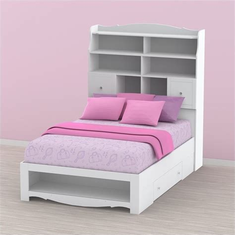 full bed with bookcase headboard full tall bookcase headboard in white 317303