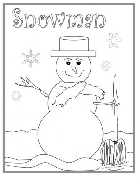 winter coloring pages   jpg format