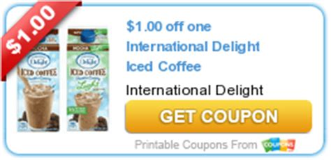 New Printable Coupon: $1.00 off one International Delight Iced Coffee