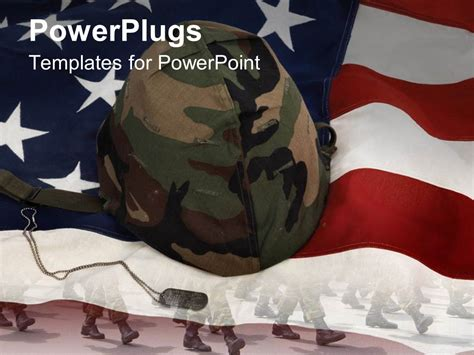 theme powerpoint 2007 army powerpoint template an american flag with a soldier s