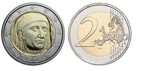 d italia cambiavalute 2 commemorativi boccaccio una moneta per