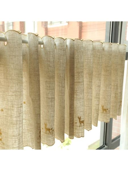 cafe curtains with grommets winston elk embroidered grommet cafe curtains for kitchen