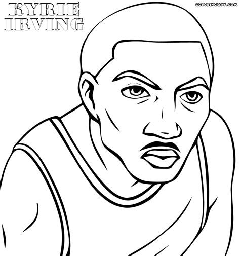 kyrie irving basketball shoe coloring pages sketch