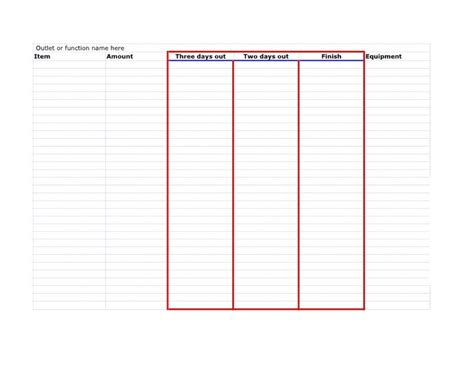 Prep List Forms Cookingdistrict Com Prep List For Restaurant Kitchen Template