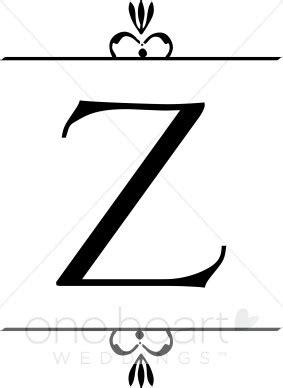 Z Wedding Clip wedding monogram z clipart wedding monograms