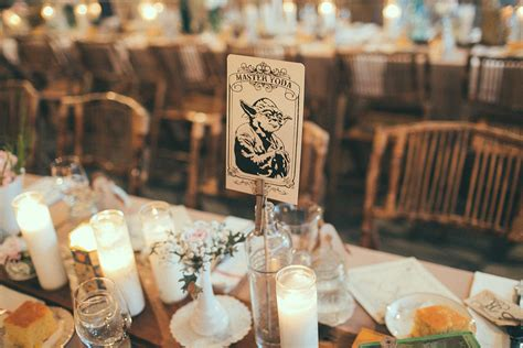 Table names what an epic star wars wedding looks like popsugar tech